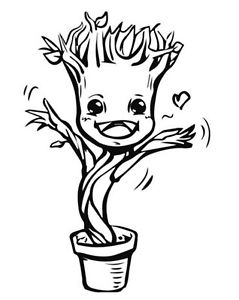Baby groot dancing clipart clip freeuse download Dancing Baby Groot - Clip Art Library clip freeuse download