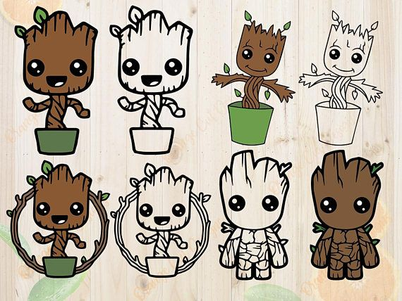 Baby groot dancing clipart svg freeuse download These Baby groot Cutfiles are especially designed for cutting ... svg freeuse download