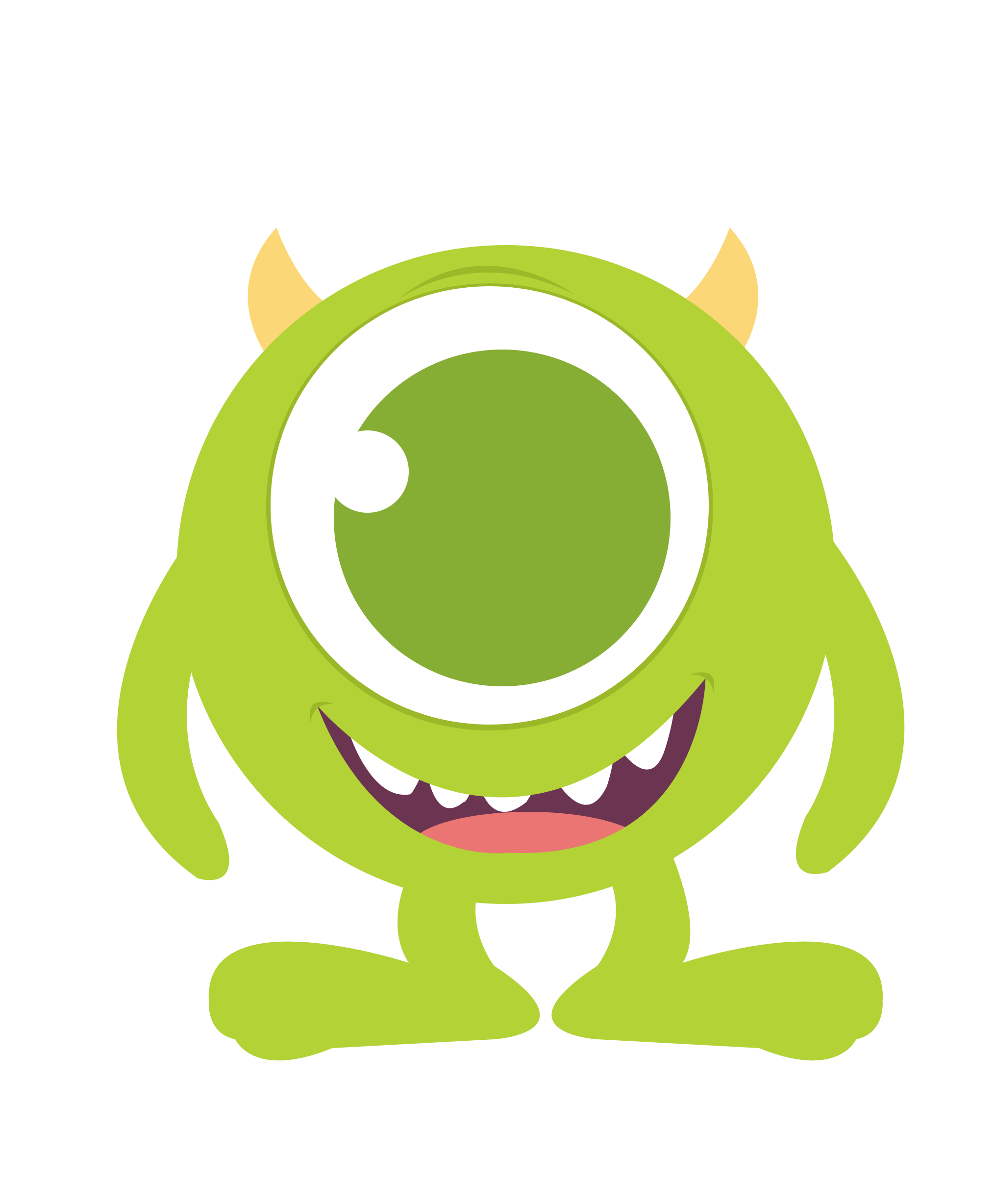 Cute halloween monster clipart clipart royalty free download Baby mike monster inc clipart - ClipartFest | Baby Boy Quilt Ideas ... clipart royalty free download