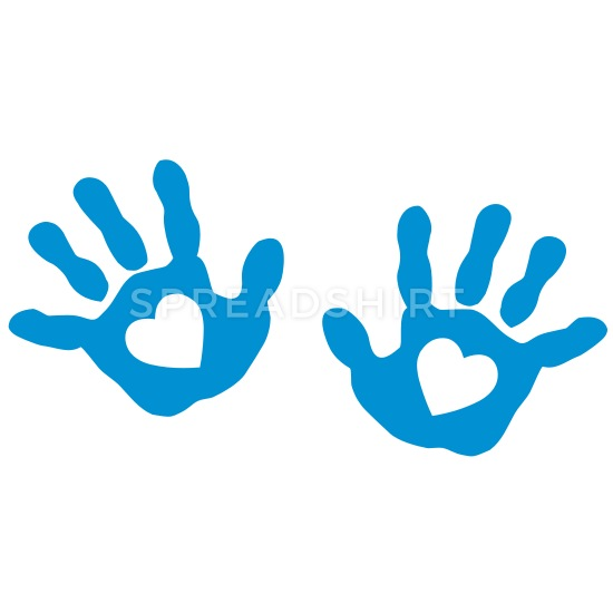 Baby hand prints clipart download baby - hands - handprint - heart Buttons large 2.2\'\' (5-pack) - white download