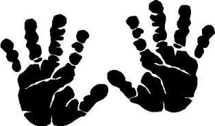 Baby hand prints clipart picture black and white Free Baby Handprint Cliparts, Download Free Clip Art, Free Clip Art ... picture black and white