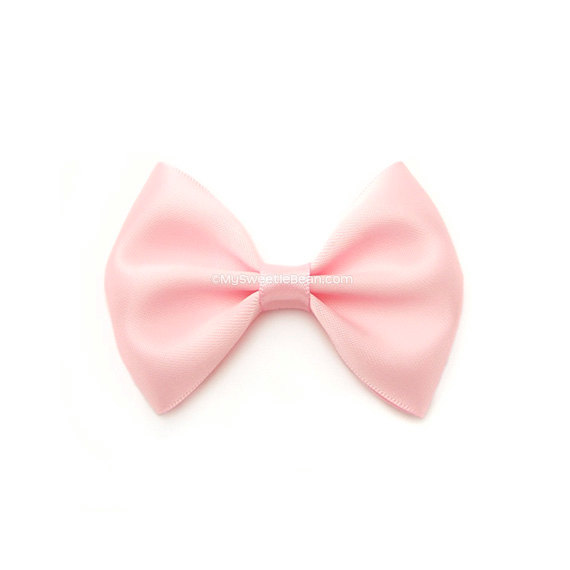 Baby head bow clipart banner library stock Pink Satin Bow, Classic Hair Bow, Toddler, GIrl, Infant Hairbows, 3 ... banner library stock