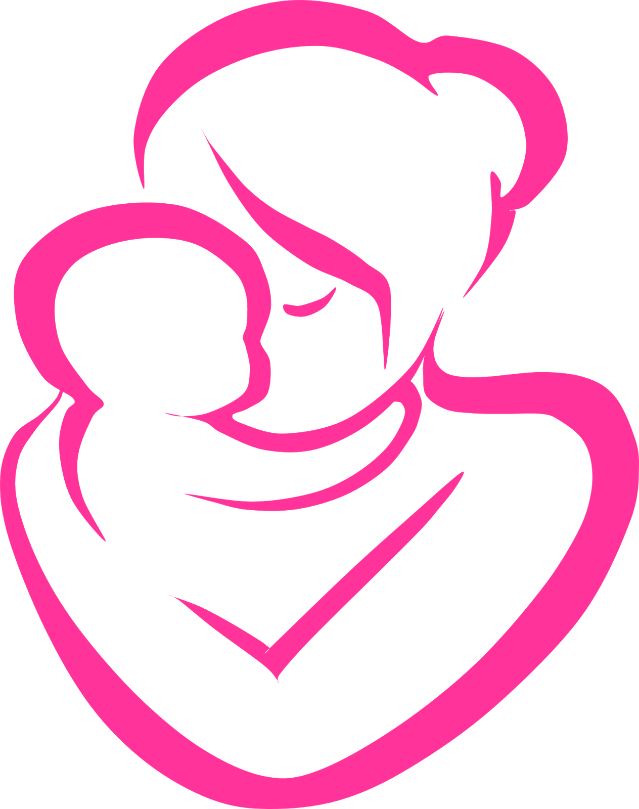 Mom and kid in car clipart image black and white download Mother and Child Clipart4 | Free Cliparts | Pinterest image black and white download