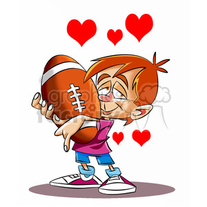 Baby holding a football clipart png free boy holding his large football with hearts bursting clipart. Royalty-free  clipart # 395166 png free