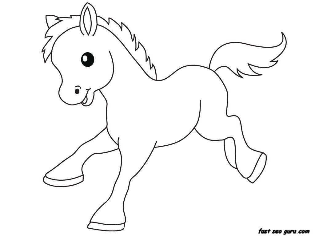 Baby horse head clipart banner freeuse baby farm animal coloring pages | Only Coloring Pages | drawings ... banner freeuse