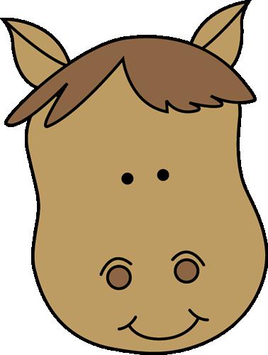 Horse face clipart