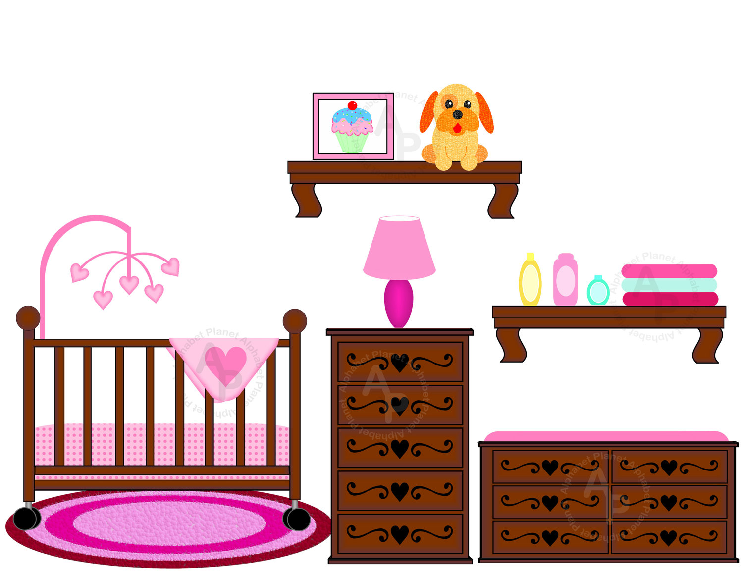Baby in a crib clipart vector freeuse library Free Baby Crib Clipart, Download Free Clip Art, Free Clip Art on ... vector freeuse library