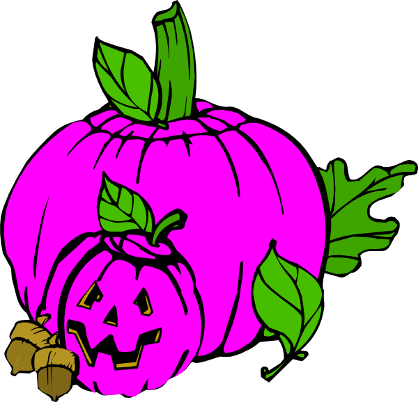 Girly pumpkin clipart clip art royalty free Gold and pink pumpkin clipart clip art royalty free