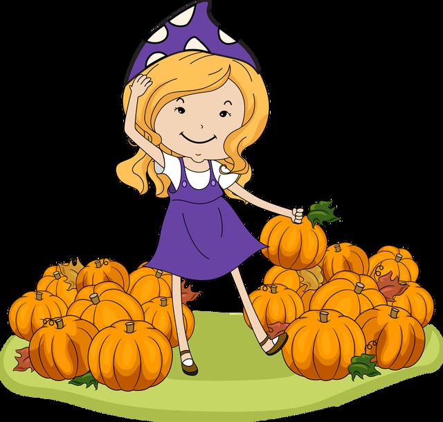 Pumpkin patch border clipart vector free download Girl Pumpkin Clipart (54+) vector free download