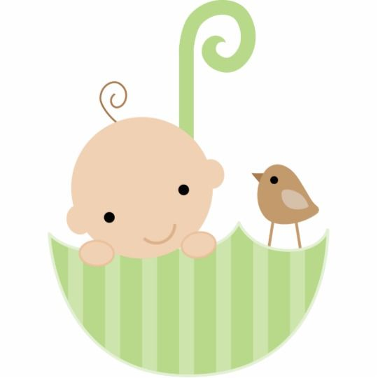 Baby in an umbrella clipart picture free stock Baby and Bird in Umbrella Cake Topper Statuette | Zazzle.com | Baby ... picture free stock
