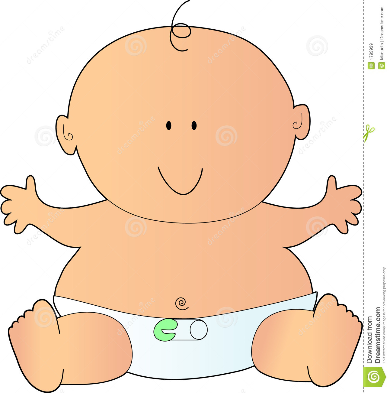 Baby in diapers clipart banner freeuse download Clipart baby diaper 3 » Clipart Station banner freeuse download