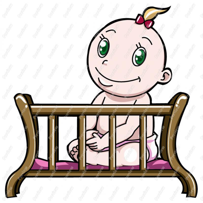 Baby in the cradle clipart clip free stock Free Baby Cradle Pictures, Download Free Clip Art, Free Clip Art on ... clip free stock