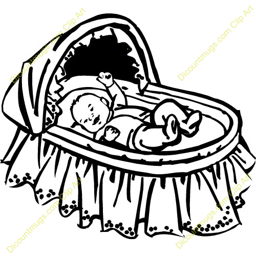 Baby in the cradle clipart jpg black and white library Baby Cradle Clipart Clipart Suggest - Free Clipart jpg black and white library