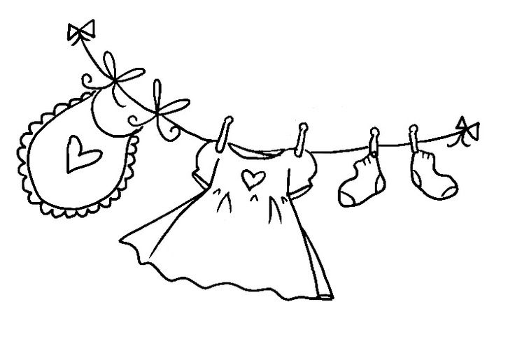 Lady running with scissors black and white clipart