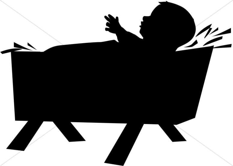 Baby jesus clipart sillouette