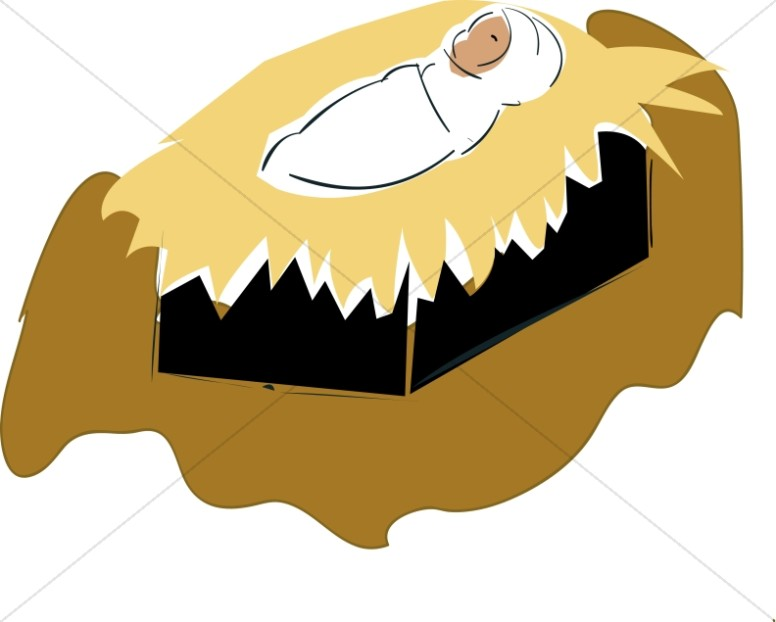 Baby jesus in a manger free clipart png transparent Swaddled Baby Jesus Clipart   Baby Jesus Clipart png transparent
