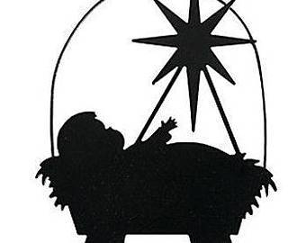 Baby jesus clipart sillouette png freeuse Jesus In A Manger Clipart | Free download best Jesus In A Manger ... png freeuse