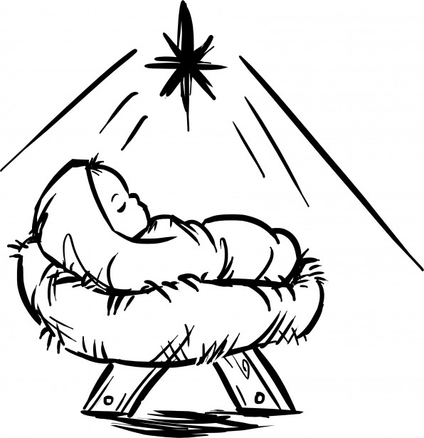 Christian clipart public domain black and white happy birthdayjesus picture transparent Baby Jesus Manger Scene Free Stock Photo - Public Domain Pictures picture transparent