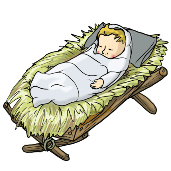 Baby jesus in a manger free clipart svg freeuse download Free Baby Jesus In A Manger Images, Down #147340 - PNG Images - PNGio svg freeuse download