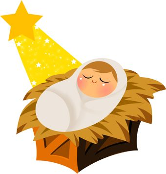 Clipart jesus manger graphic free download Baby Jesus With Yellow Star Clip Art | Christmas | Baby girl newborn ... graphic free download