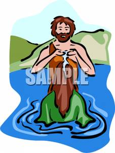 Baby john the batist clipart royalty free library Jesus Being Baptized By John the Baptist - Clipart royalty free library