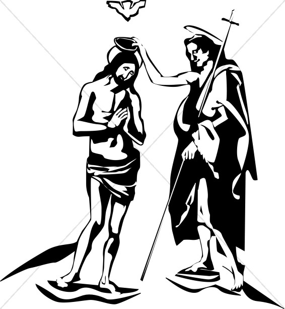 Baby john the batist clipart jpg Jesus and John the Baptist | Epiphany Clipart jpg