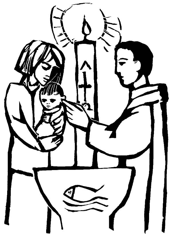 Baby john the batist clipart image black and white download John The Baptist Coloring Page | Free download best John The Baptist ... image black and white download