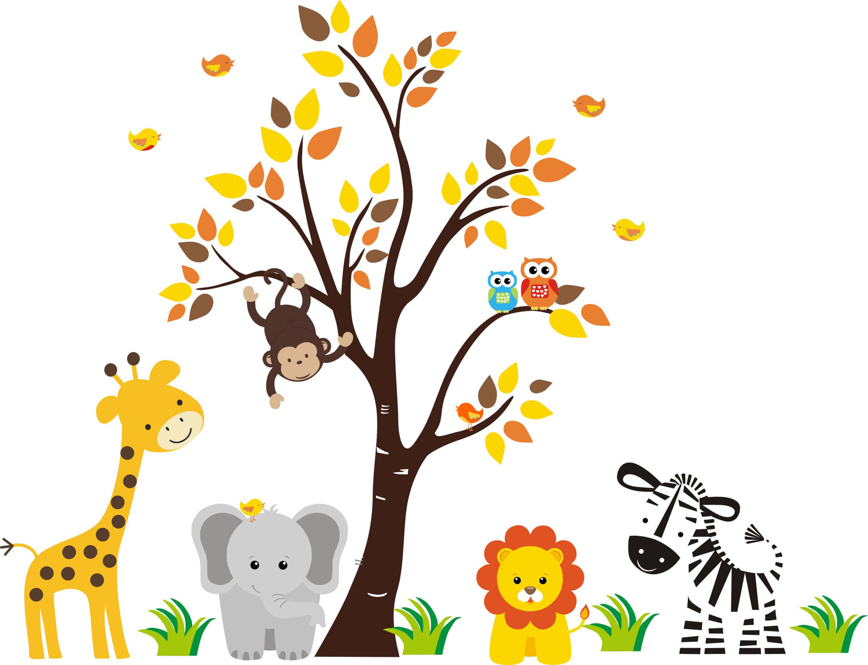 Baby shower safari background clipart