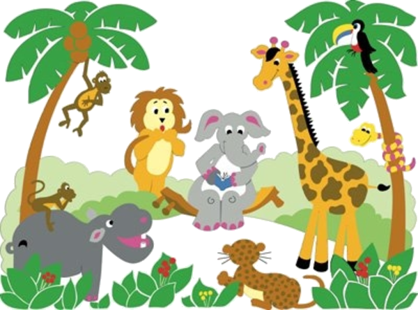 Free jungle clipart graphic free stock Animal Free Printable Baby Jungle Clipart Images At Png - AZPng graphic free stock