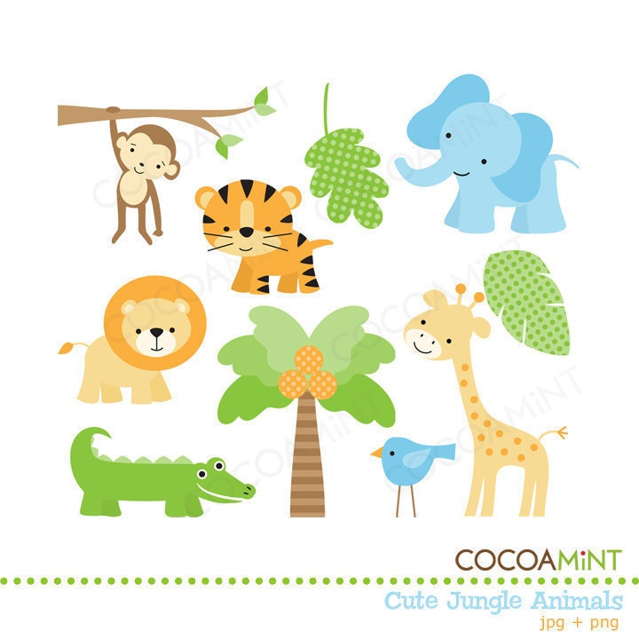 Free clipart of jungle animals. Cute png hd transparent