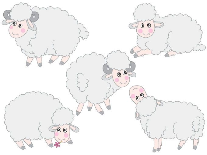 Baby lamb clipart for photoshop vector image library stock Sheep Clipart - Digital Vector Farm, Animal, Lamb, Baby Lamb, Farm ... image library stock