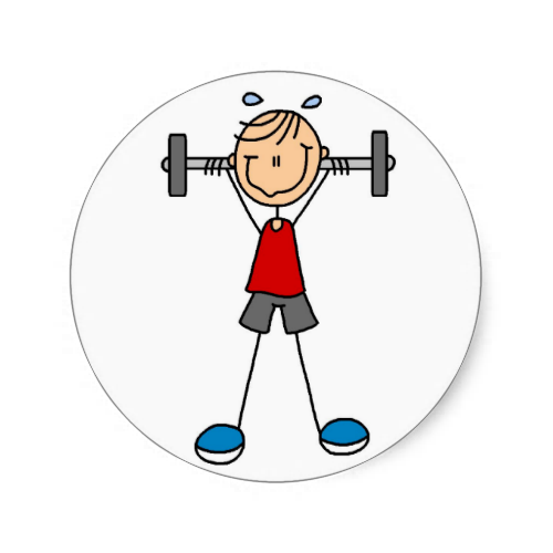 Baby lifting weight clipart svg free Stick Figure Lifting Weights Sticker | Zazzle.com | Stick Figures ... svg free