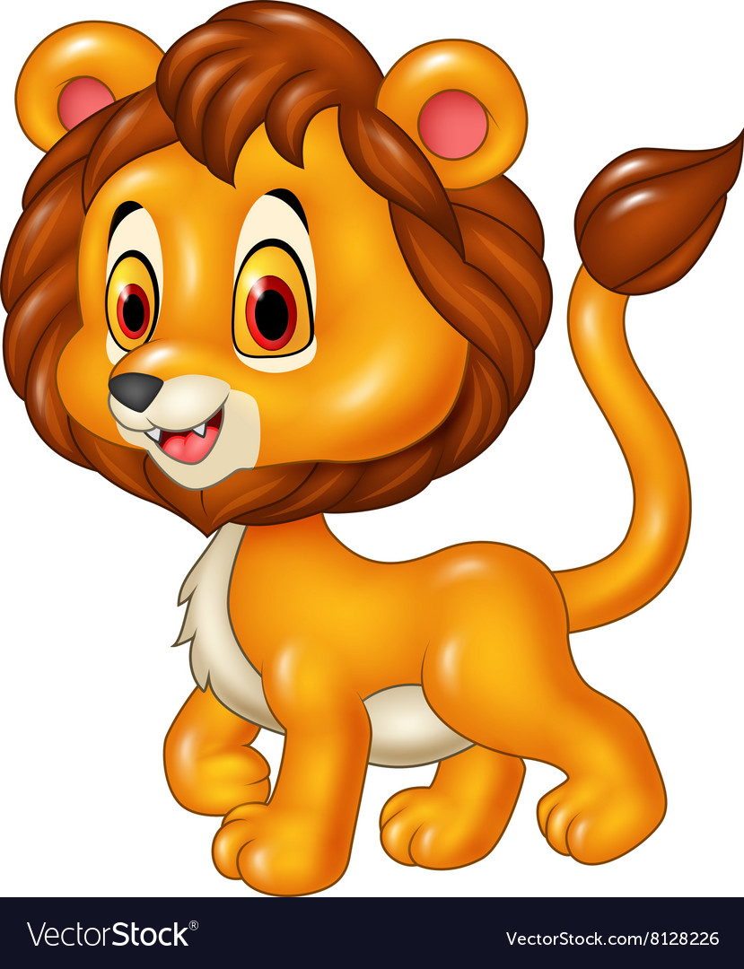 Baby lion clipart vector png black and white Cute baby lion walking isolated png black and white