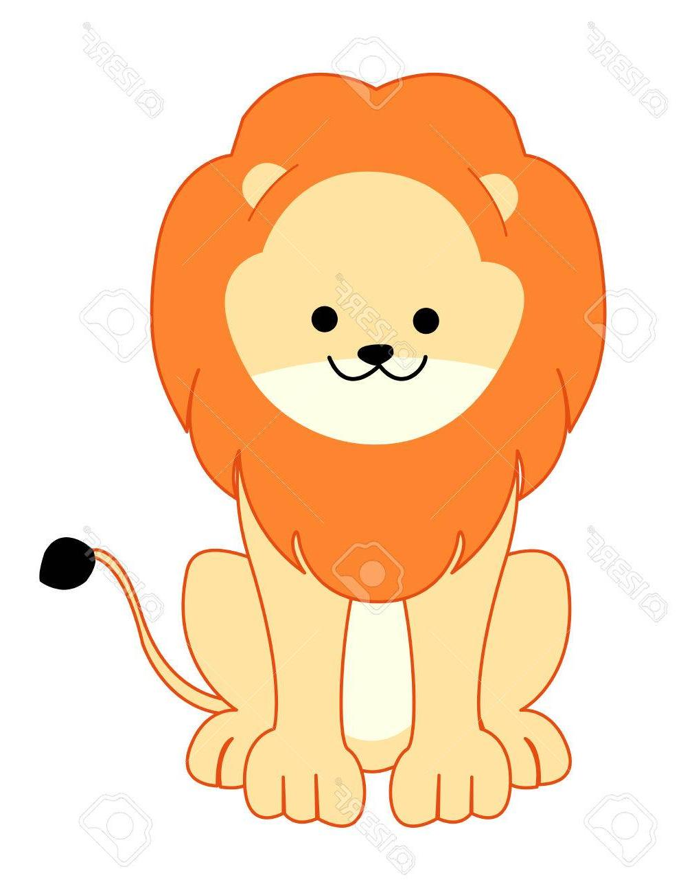 Baby lion clipart vector stock Best HD Sitting Lion Clip Art Pictures » Free Vector Art, Images ... stock