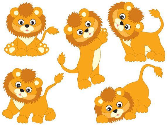 Baby lion clipart vector clipart royalty free stock Lions Clipart - Digital Vector Safari, African, Animal, Lion, Baby ... clipart royalty free stock