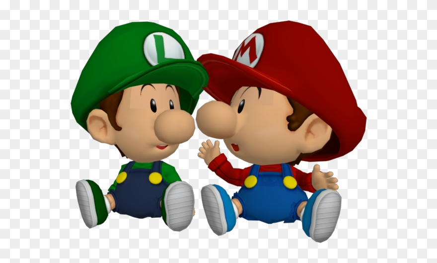 Ssbbrzs Babies - Baby Mario & Baby Luigi Clipart (#932897) - PinClipart banner freeuse download