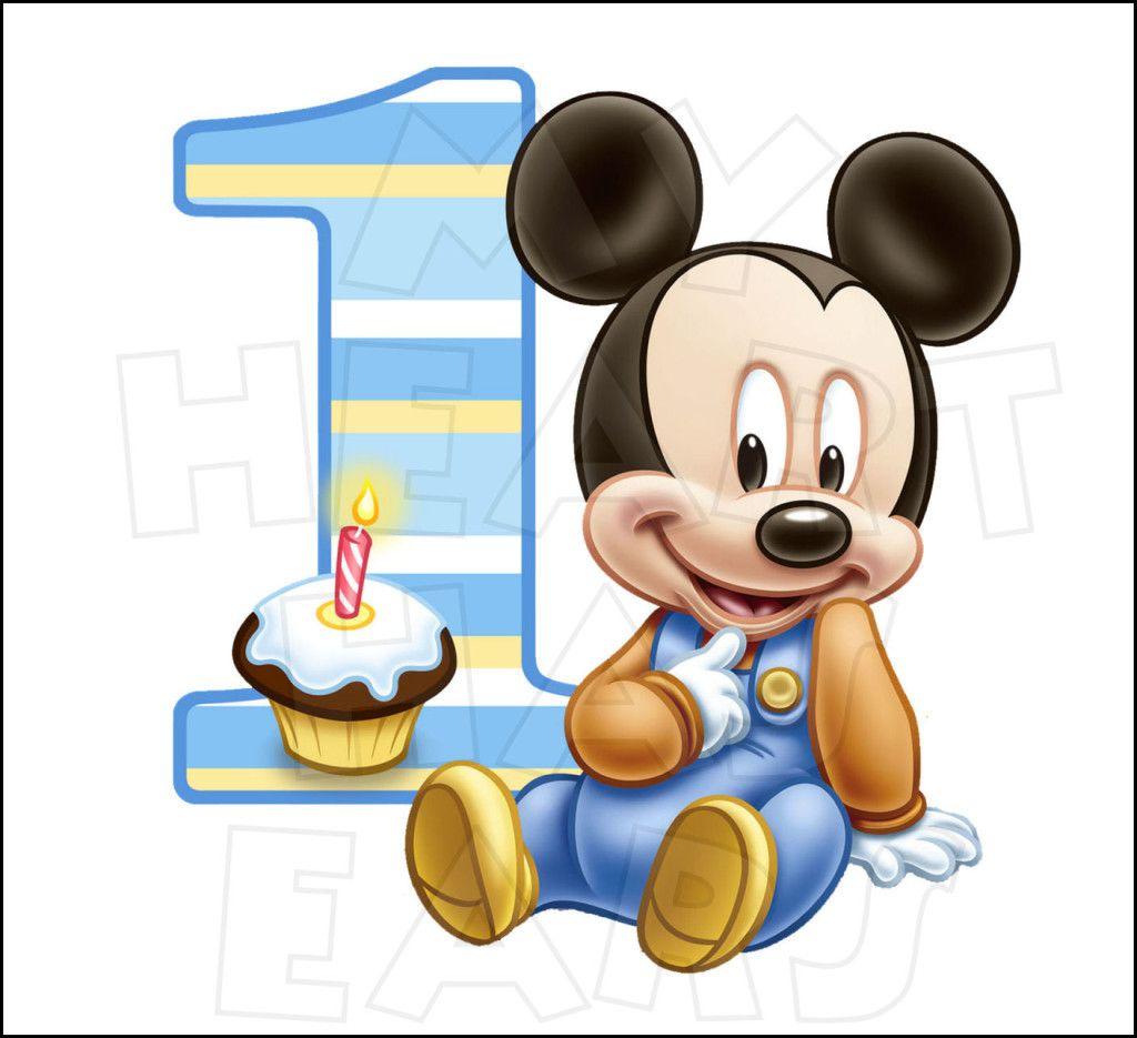 Baby mickey birthday clipart