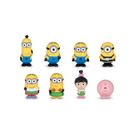 Despicable Me 3 Micro Minion Figurines 8-pieces Gift Set jpg transparent stock