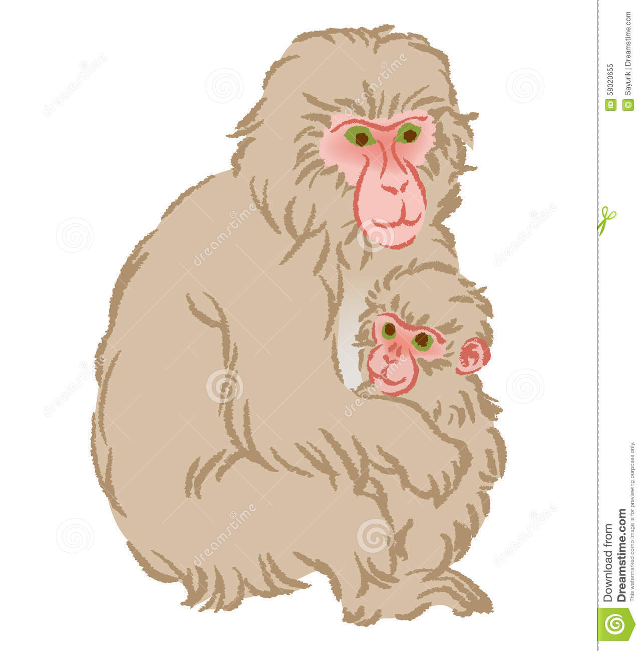 Baby monkey and mom clipart graphic royalty free download Collection of 14 free Mother clipart monkey aztec clipart vintage ... graphic royalty free download