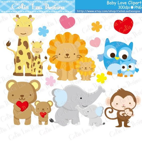 Mom and baby animals clipart png png transparent Baby Animals Clipart, Baby Love Clipart , Dad and Baby / Mom and ... png transparent