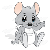Baby mouse clipart svg library Baby Mouse, with a diaper svg library