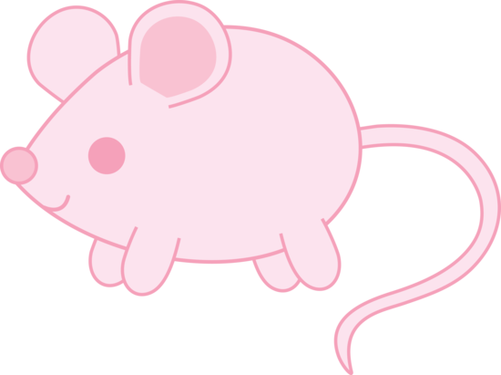 Baby mouse clipart clip art black and white stock Pink Baby Mouse - Free Clip Art clip art black and white stock