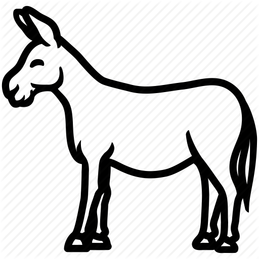 Horse butt clipart banner royalty free Donkey Clipart Black And White | Free download best Donkey Clipart ... banner royalty free