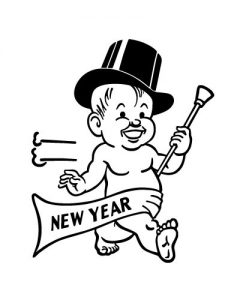 Baby new year 2018 black white clipart svg royalty free download Happy Holidays and Happy New Year! - Johnson and Rohan Insurance svg royalty free download