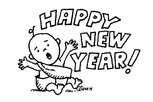 Happy new year 2016 clipart black and white png royalty free Happy new year clipart black and white 1 » Clipart Station png royalty free