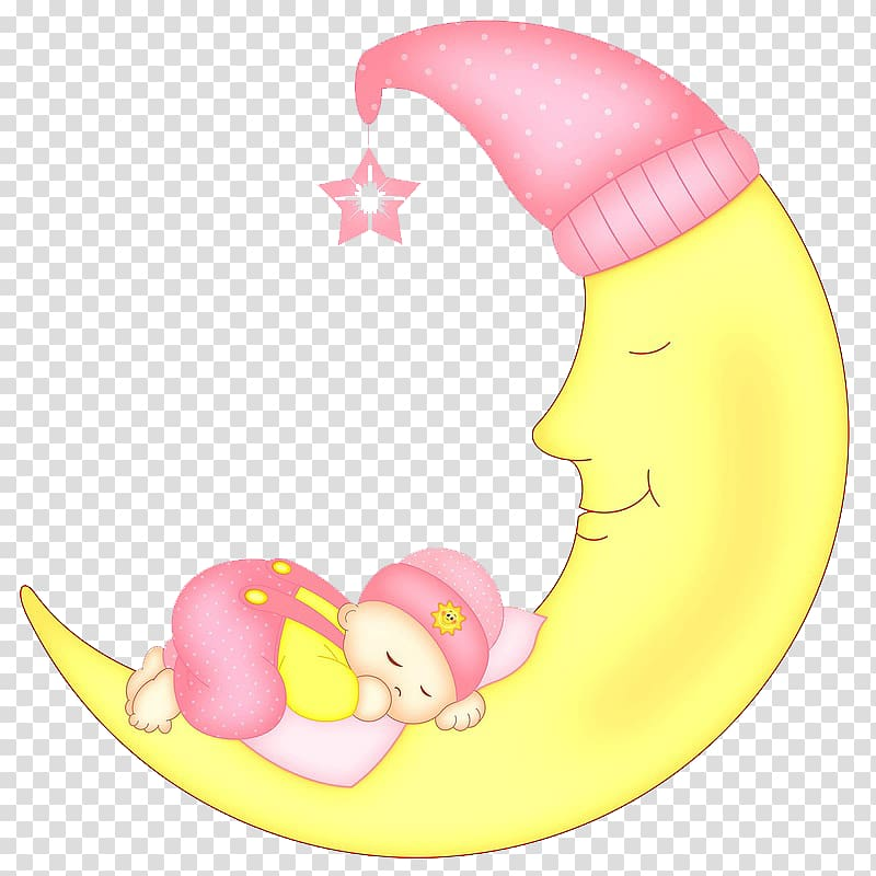 Baby on moon clipart vector library Baby sleeping on crescent moon illustration, Infant Sleep , Cartoon ... vector library