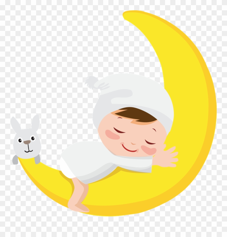 Baby on moon clipart image royalty free Moon ‿✿⁀○ Good Night Baby, Baby Clip Art - Infant - Png Download ... image royalty free