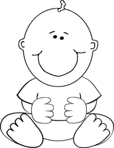 Fetus clipart black and white clip art freeuse download Sitting Baby Outline Clip Art at Clker.com - vector clip art online ... clip art freeuse download