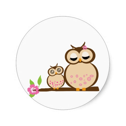 Baby owl clipart free image black and white Mom And Baby Owl Clipart Printable 802 - Clipart1001 - Free Cliparts image black and white