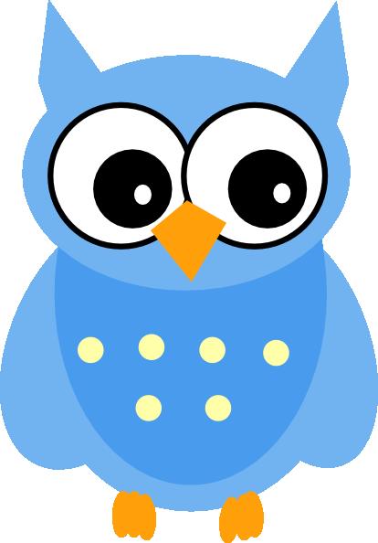 Cartoon owl images clipart image Cute Cartoon Owls | Blue Owl clip art - vector clip art online ... image